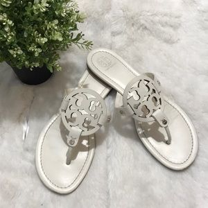 Tory Burch women's sandals size 9.5M color White
